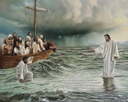 Пётр идёт по воде